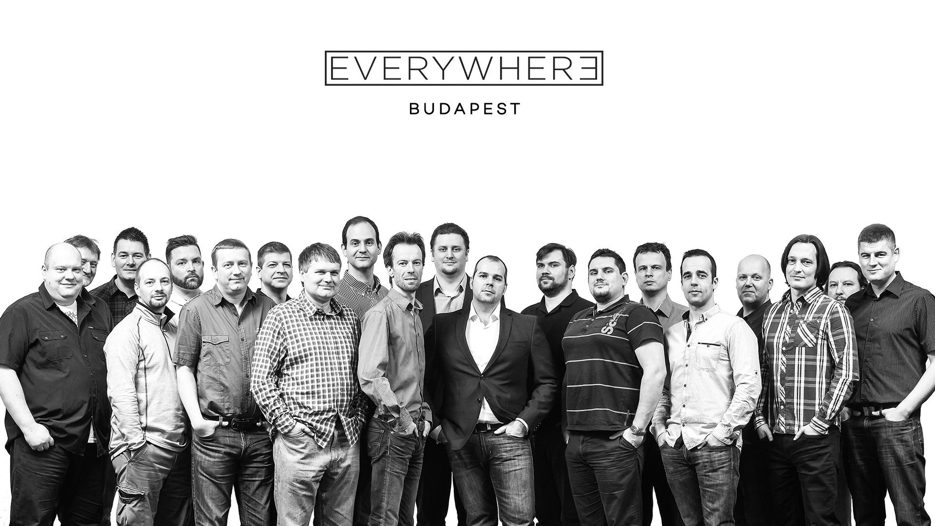 Imagén grupal del equipo de desarrollo de Everywhere Budapest
